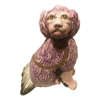 Art Nouveau Ceramic Staffordshire Dog Figurine