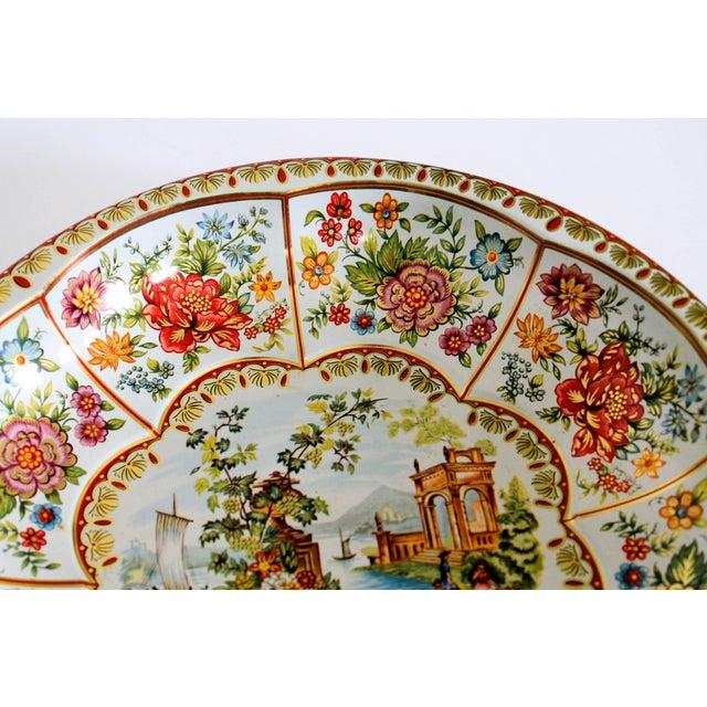 Boho Chic Vintage Daher English Tin Bowl For Sale - Image 3 of 6