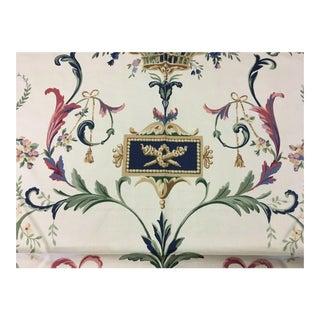 Thibaut Gardenesque #8375 Floral Cotton Multi-Purpose Fabric - 2 & 3/8 Yards For Sale