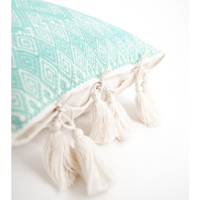 Mexican Mint Diamond Brocaded Pillow - Image 2 of 4