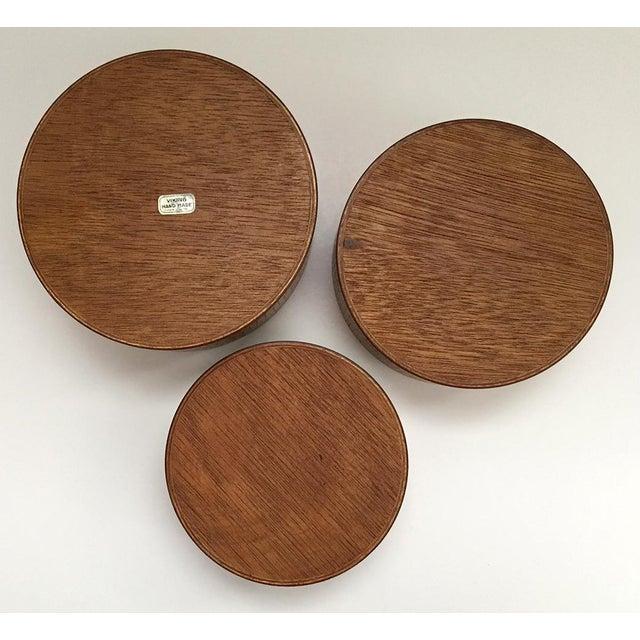 Danish Modern Wooden Snack Bowls - Set of 3 For Sale - Image 4 of 6
