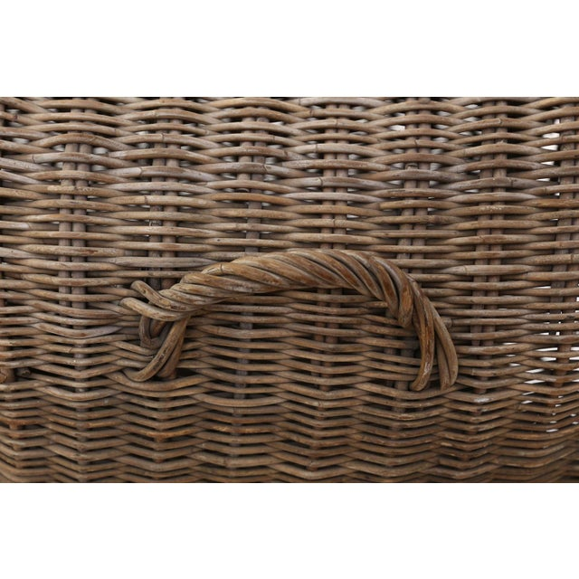 Brown English Wicker Dog Kennel For Sale - Image 8 of 13