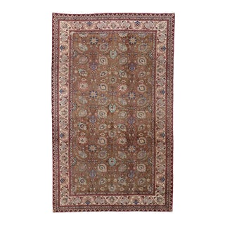 Vintage Persian Tabriz Gallery Rug with Arabesque Art Nouveau Style