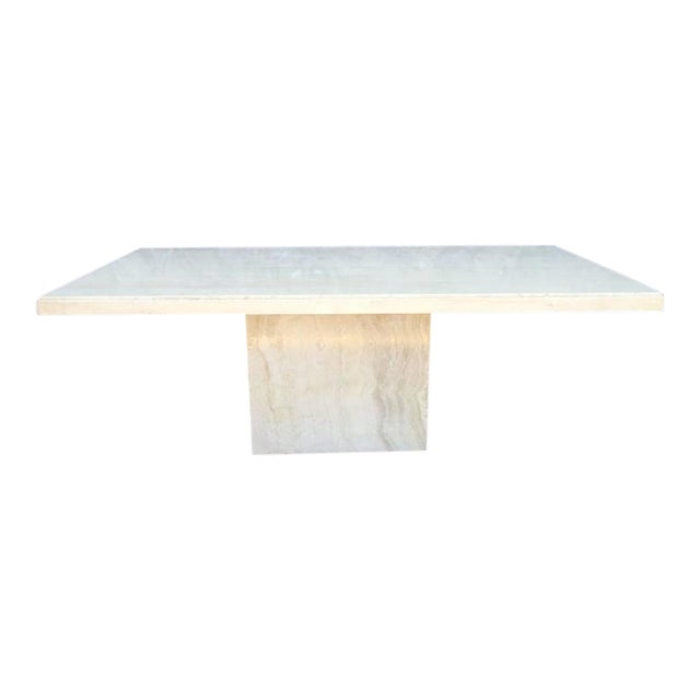 Large Italian Travertine Dining Table - Image 1 of 6