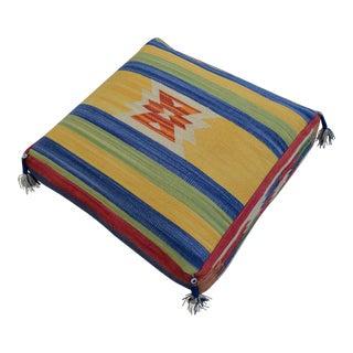 Turkish Hand Woven Kilim Floor Pillow Cushion Cover - 29″ X 29″