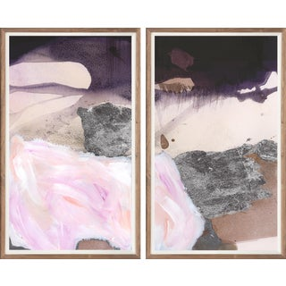 Quartz Diptych: White Art Print - Framed For Sale