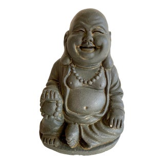 Happy Buddha Petite Stone Accent Statue For Sale