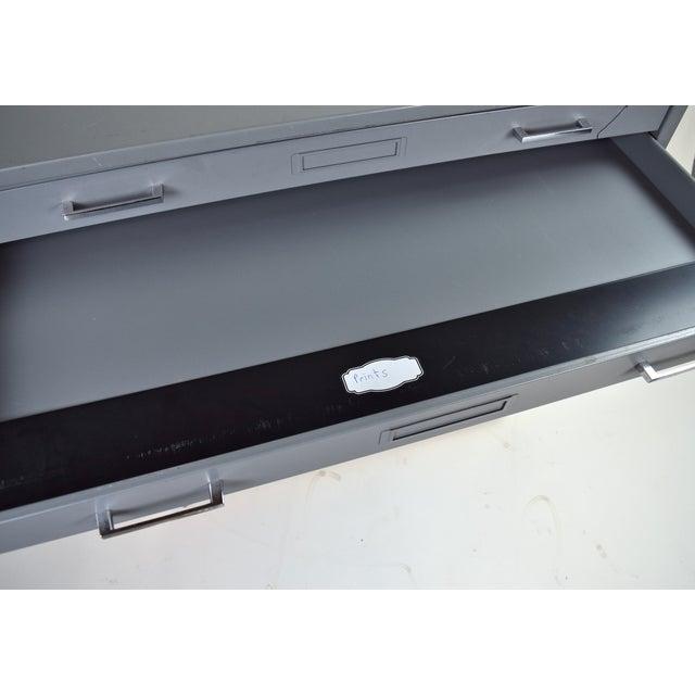 Industrial Vintage Mayline Industrial Steel Map Case Flat File Cabinet For Sale - Image 3 of 8