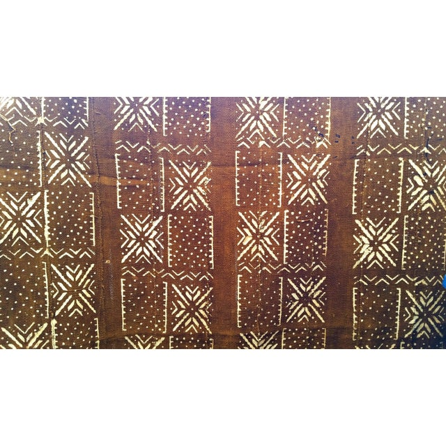 2000s African MudCloth Brown Rust Textile For Sale - Image 5 of 7