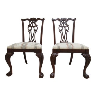 Ethan Allen 18th Century Mahogany Dining Side Chairs - A Pair
