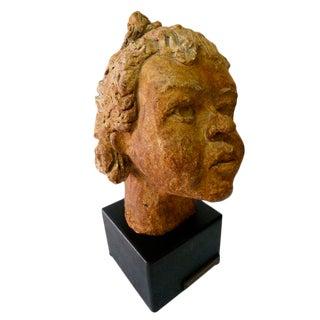 Sculpture of a Little Girl Head