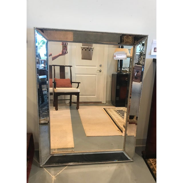 "Contemporary Restoration Hardware ""Venetian"" Beaded Mirror For Sale - Image 3 of 10"