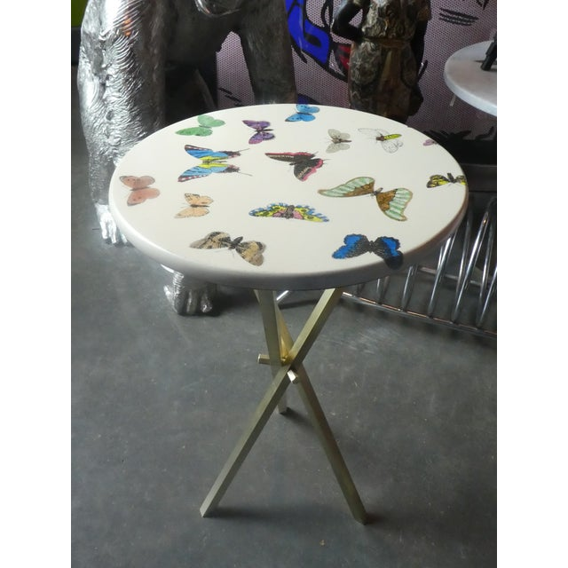 1960s Vintage Fornasetti White Butterfly Occasional Table For Sale - Image 13 of 13