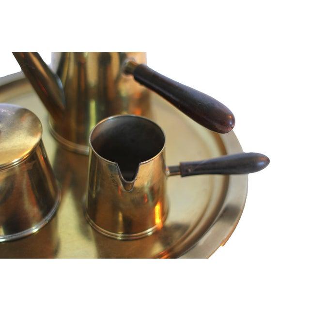 Vintage Japanese Brass Tea Set - Image 2 of 4