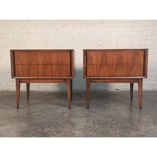 Thomasville Mid-Century Danish Modern Nightstands - a Pair - Image 2 of 7