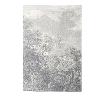 Greyscale Forest Wallpaper Mural For Sale