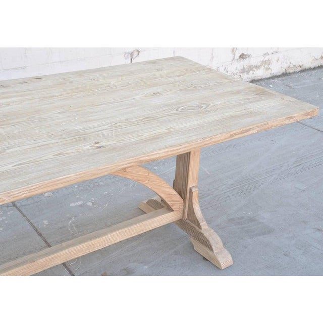 Petersen Antiques Heart Pine Expandable Farm Table For Sale - Image 9 of 11