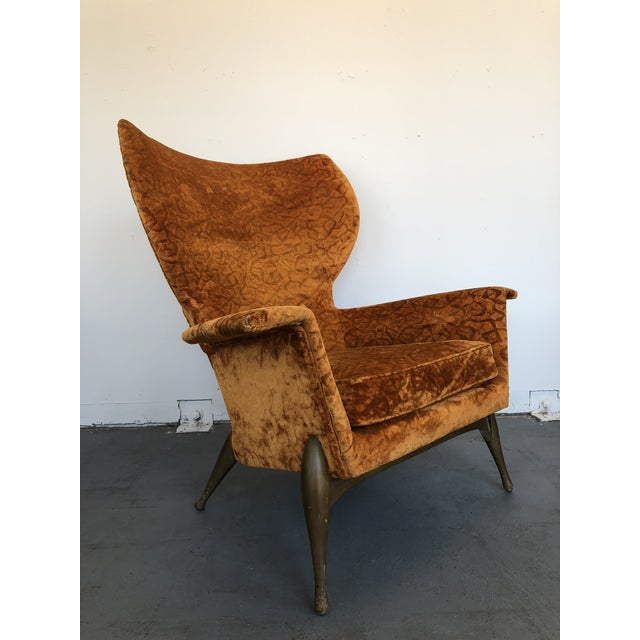 1970s Vintage Ben Seibel Wingback Lounge Chair For Sale - Image 9 of 9