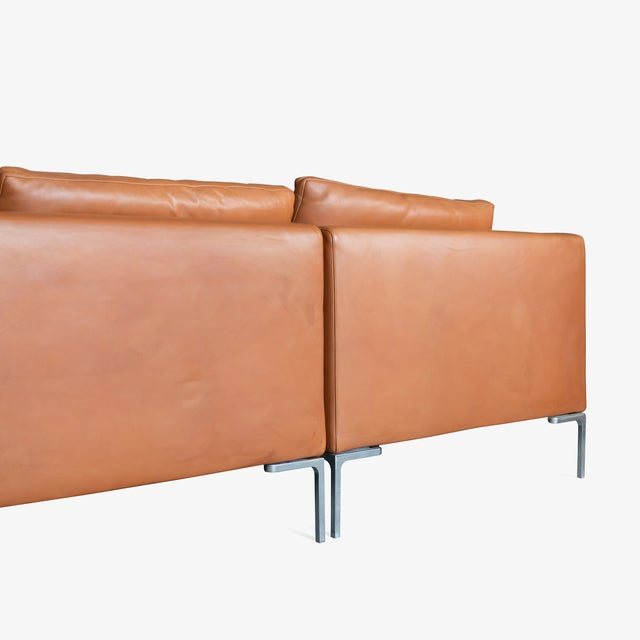 B&B Italia B&b Italia Charles Sectional in Cognac Leather by Antonio Citterio For Sale - Image 4 of 10