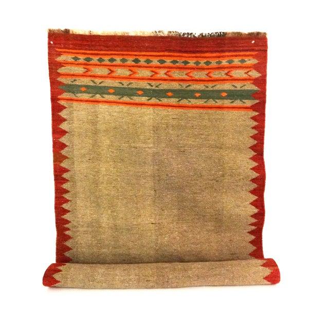 "Hand-Woven Wool Kilim Runner - 3'2"" x 9' - Image 3 of 4"