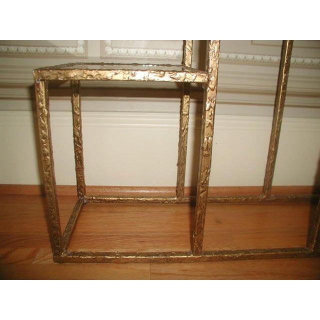 Gilt Metal & Glass 3 Tier Shelf Table - Image 8 of 9