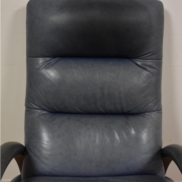 Ethan Allen Modern Leather Recliner - Image 9 of 10