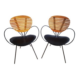 1960s Vintage Arthur Umanoff Mid-Century Modern Side Chairs - A Pair For Sale