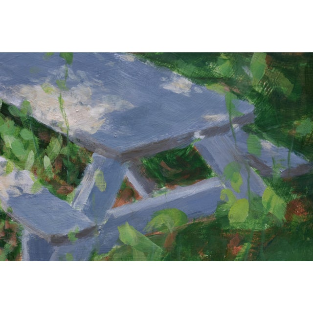 """Forgotten Picnic Table"" Original Painting For Sale In Providence - Image 6 of 9"