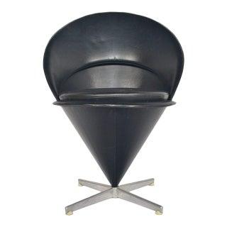Verner Panton Cone Chair – Black #2 For Sale