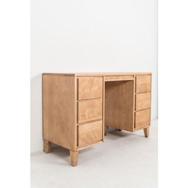 1940s Mid-Century Modern Russel Wright for Conant Ball Maple Partner Desk For Sale - Image 10 of 10