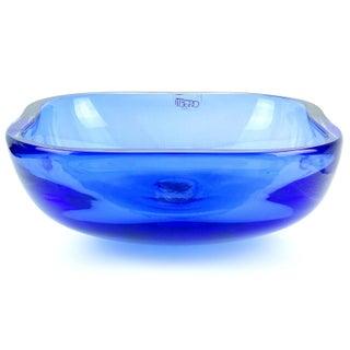 Oggetti Murano Sommerso Cobalt Blue Italian Art Glass Centerpiece Bowl Preview