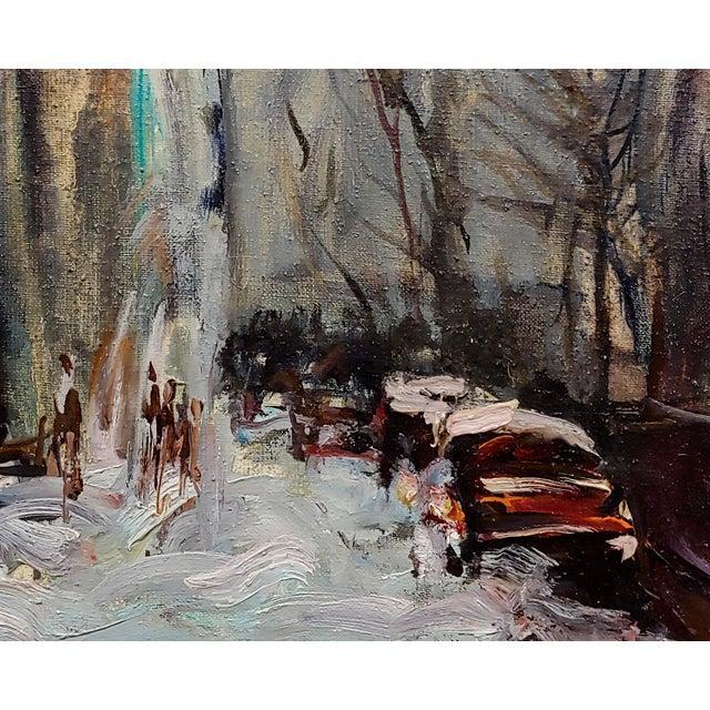 Kosinski - City Street Siding a Bridge - Oil Painting For Sale - Image 4 of 10