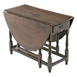 C. 1680 Charles II Drop Leaf Table