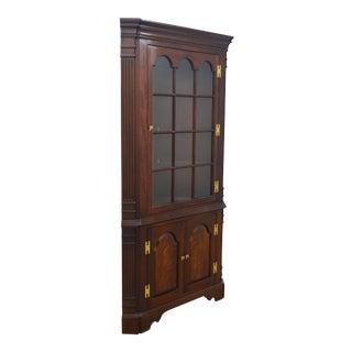 Councill Craftsmen Mahogany Corner Cabinet For Sale