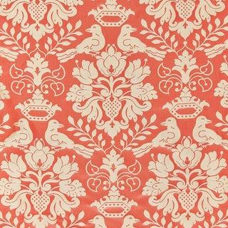 Scalamandre Love Bird Fabric, Melon & Bronze For Sale