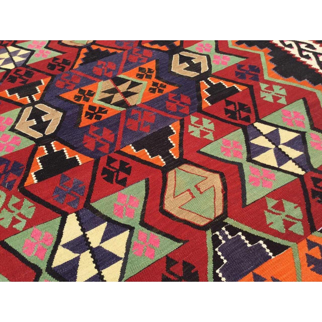 Turkish Kilim Rug For Sale - Image 4 of 9