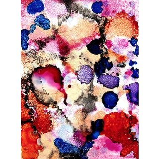 Abstract Unframed Ink Print For Sale