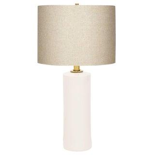 Mid-Century Cylindrical Ceramic Lamp