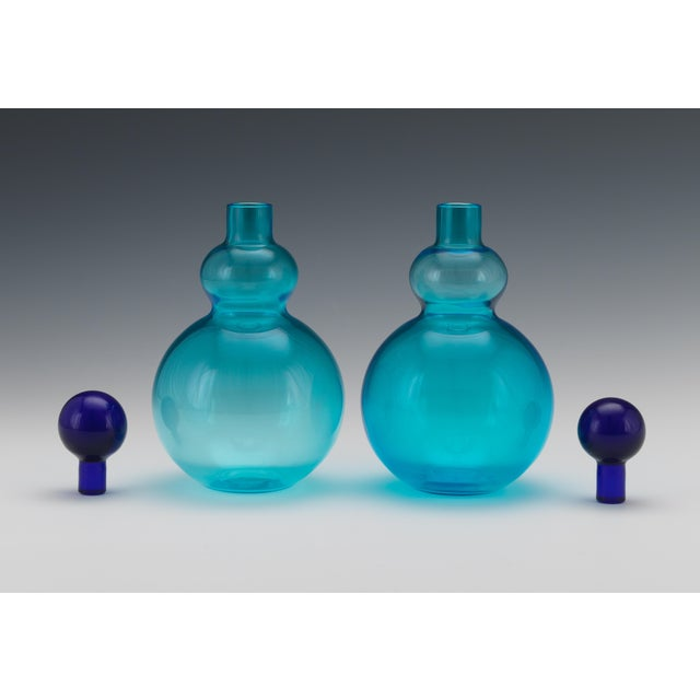 Salviati Vintage Mid Century Salviati, Murano, Italian Art Glass Decanters- A Pair For Sale - Image 4 of 8