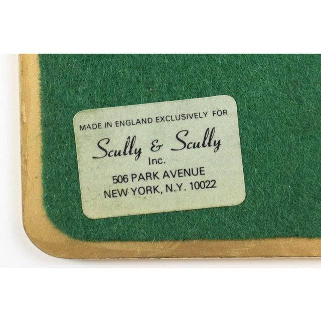 Cork Set of (10) Ming Polo English Scully & Scully Park Ave Plate Mats!~ For Sale - Image 7 of 7