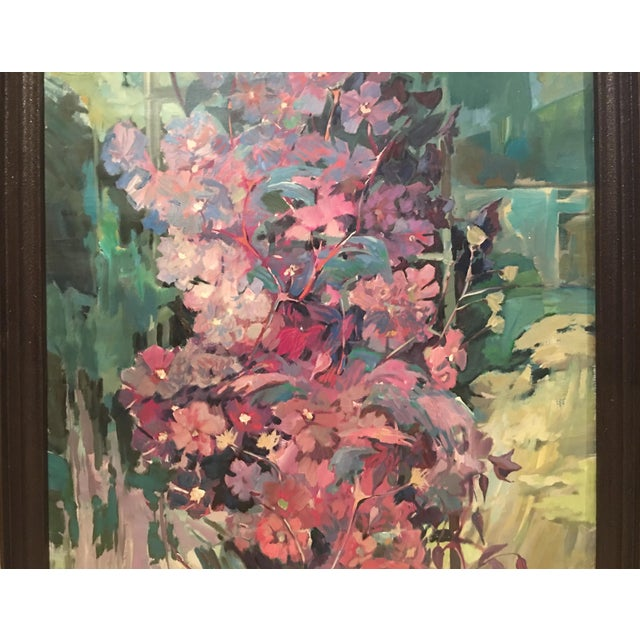 """Clematis"" Flowers Original Oil Painting by Jan Matras For Sale - Image 9 of 11"