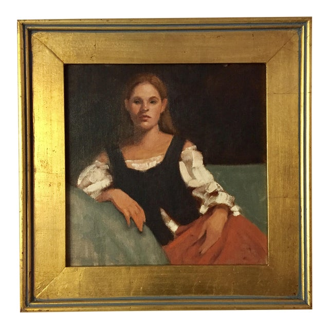 Portrait of a Young Woman Oil Painting - Image 1 of 5