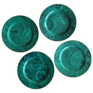 Malachite Dessert Plates - Set of 4