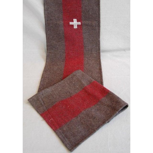 Lodge Custom Tailored Swiss Wool Blanket Table Runner For Sale - Image 3 of 6