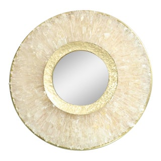 Pair of Enzo Missoni Illuminated Rock Crystal Mirrors For Sale