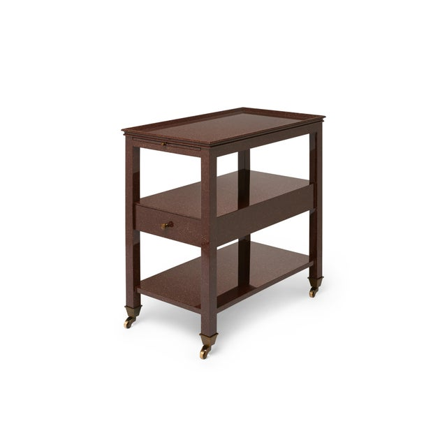 Not Yet Made - Made To Order Practical Nightstand in Porphyry - Miles Redd for The Lacquer Company For Sale - Image 5 of 6
