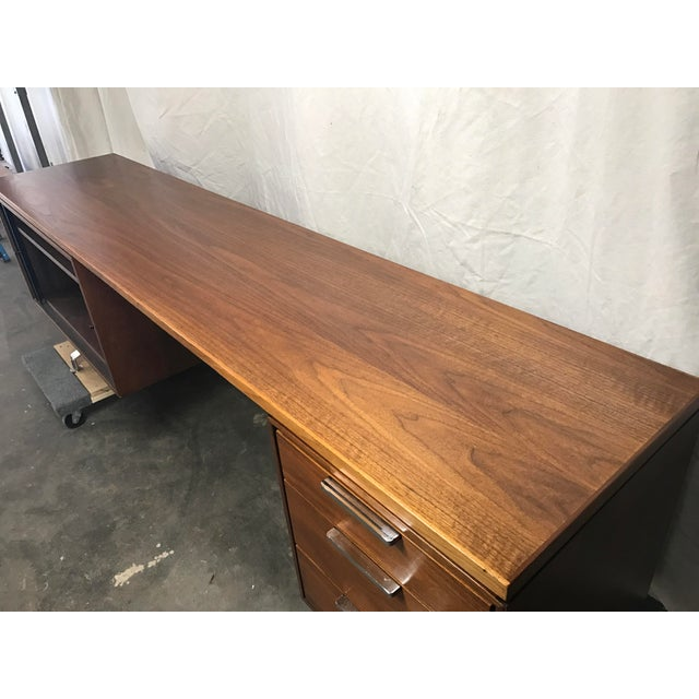 Imperial Staggered Desk & Credenza For Sale - Image 11 of 11