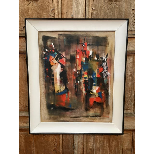 Abstract Oil Painting on Canvas Signed Wagner For Sale - Image 9 of 9