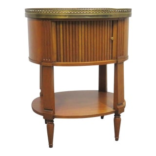 Regency Baker Furniture Fruitwood Nightstand For Sale