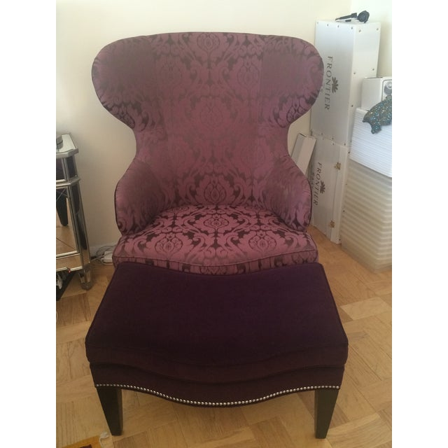 Ethan Allen Rand Wing Chair - Image 5 of 5